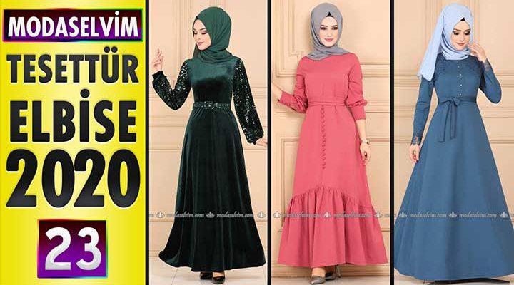Modaselvim Elbise Modelleri 2020 [23]   Moda Selvim Yeni Sezon Tesettür Elbise Modelleri