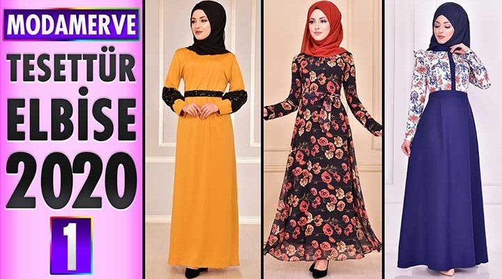 Modamerve Elbise Modelleri 2020 [ 1 ]   Moda Merve Yeni Sezon Tesettür Elbise Modelleri