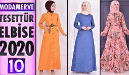 Modamerve Elbise Modelleri 2020 [ 10 ] | Moda Merve Yeni Sezon Tesettür Elbise Modelleri