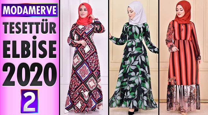 Modamerve Elbise Modelleri 2020 [ 2 ]   Moda Merve Yeni Sezon Tesettür Elbise Modelleri