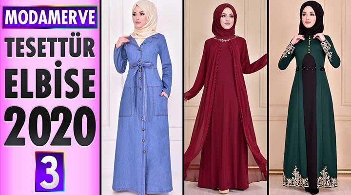 Modamerve Elbise Modelleri 2020 [ 3 ] | Moda Merve Yeni Sezon Tesettür Elbise Modelleri