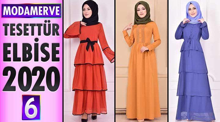 Modamerve Elbise Modelleri 2020 [ 6 ] | Moda Merve Yeni Sezon Tesettür Elbise Modelleri