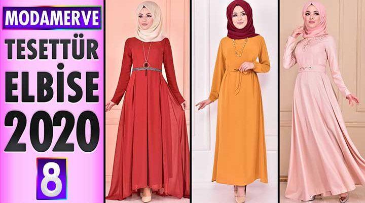 Modamerve Elbise Modelleri 2020 [ 8 ] | Moda Merve Yeni Sezon Tesettür Elbise Modelleri