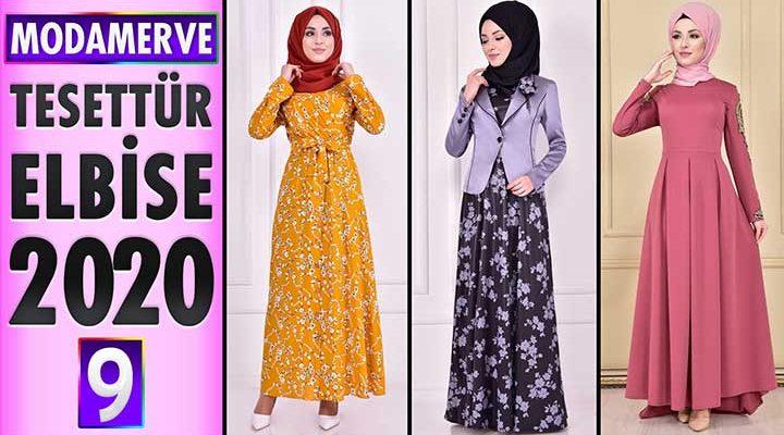 Modamerve Elbise Modelleri 2020 [ 9 ]   Moda Merve Yeni Sezon Tesettür Elbise Modelleri