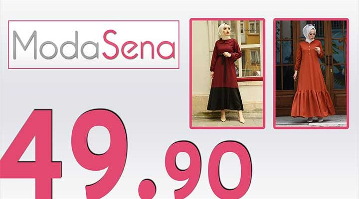 ModaSena 49,90 TL İndirimli Kampanya Tesettür Elbiseler 1 [Haziran 2020] | Moda Sena 49,90 Elbise