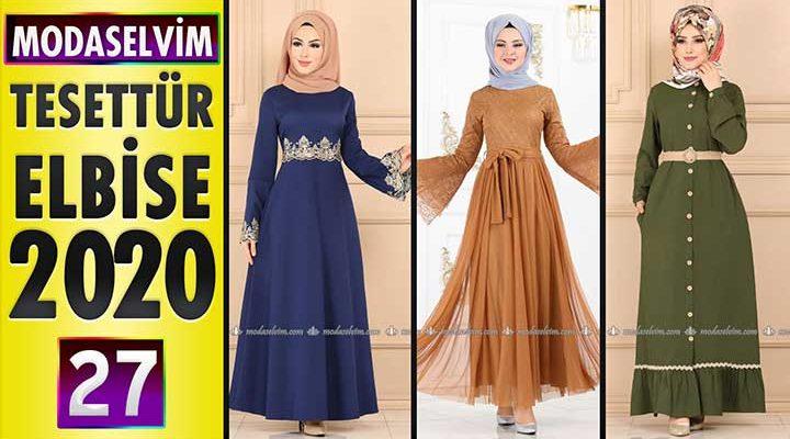Modaselvim Elbise Modelleri 2020 [ 27 ]   Moda Selvim Yeni Sezon Tesettür Elbise Modelleri