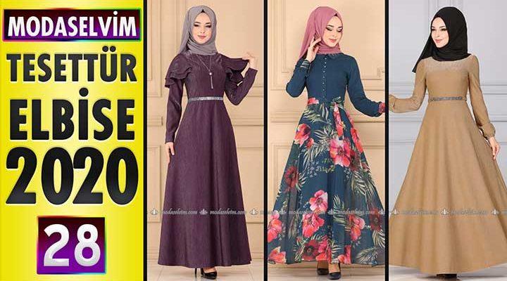 Modaselvim Elbise Modelleri 2020 [ 28 ] | Moda Selvim Yeni Sezon Tesettür Elbise Modelleri