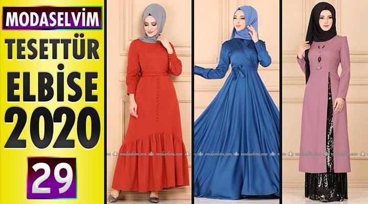 Modaselvim Elbise Modelleri 2020 [ 29 ]   Moda Selvim Yeni Sezon Tesettür Elbise Modelleri