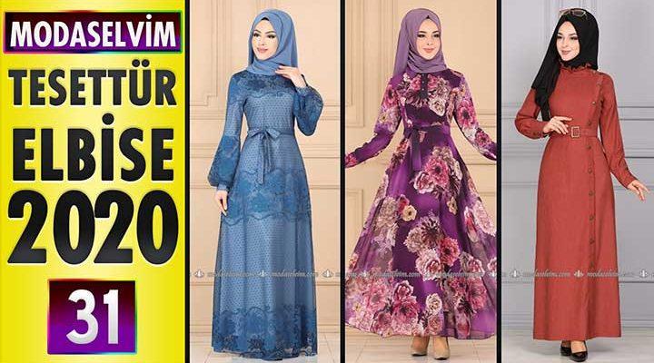 Modaselvim Elbise Modelleri 2020 [ 31 ]   Moda Selvim Yeni Sezon Tesettür Elbise Modelleri