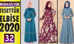 Modaselvim Elbise Modelleri 2020 [ 32 ] | Moda Selvim Yeni Sezon Tesettür Elbise Modelleri
