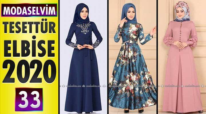 Modaselvim Elbise Modelleri 2020 [ 33 ]   Moda Selvim Yeni Sezon Tesettür Elbise Modelleri