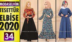 Modaselvim Elbise Modelleri 2020 [ 34 ] | Moda Selvim Yeni Sezon Tesettür Elbise Modelleri