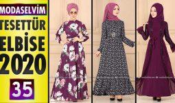 Modaselvim Elbise Modelleri 2020 [ 35 ] | Moda Selvim Yeni Sezon Tesettür Elbise Modelleri