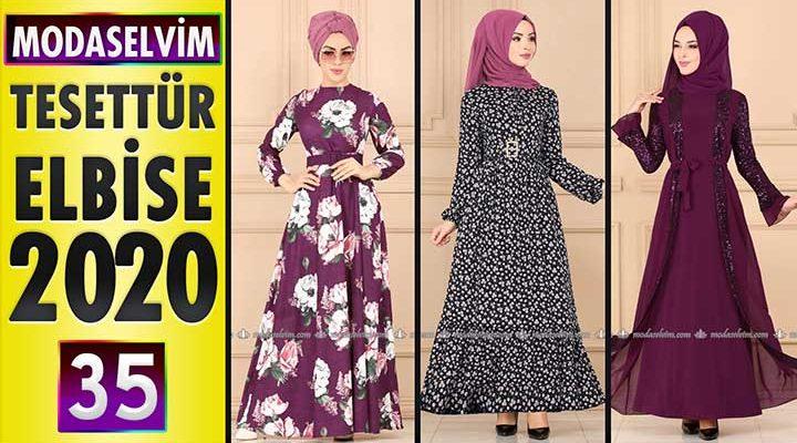 Modaselvim Elbise Modelleri 2020 [ 35 ]   Moda Selvim Yeni Sezon Tesettür Elbise Modelleri