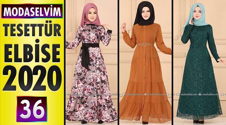 Modaselvim Elbise Modelleri 2020 [36]   Moda Selvim Yeni Sezon Tesettür Elbise Modelleri