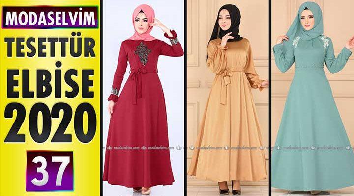 Modaselvim Elbise Modelleri 2020 [37]   Moda Selvim Yeni Sezon Tesettür Elbise Modelleri