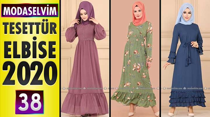 Modaselvim Elbise Modelleri 2020 [38]   Moda Selvim Yeni Sezon Tesettür Elbise Modelleri