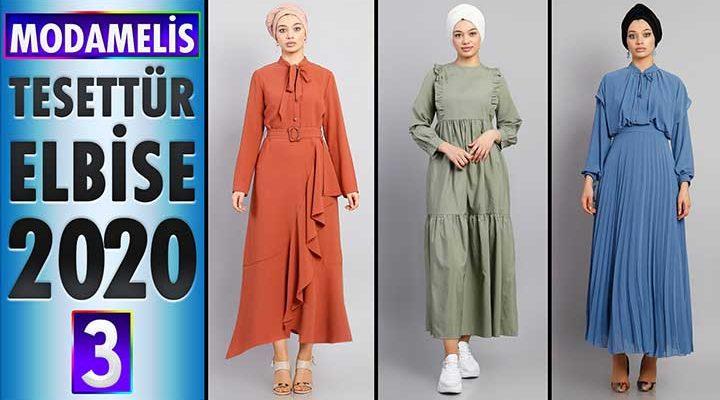 ModaMelis Elbise Modelleri 2020 [ 3 ]   Yeni Sezon Trend Tesettür Elbise Modelleri