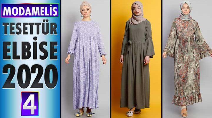 ModaMelis Elbise Modelleri 2020 [ 4 ]   Yeni Sezon Trend Tesettür Elbise Modelleri