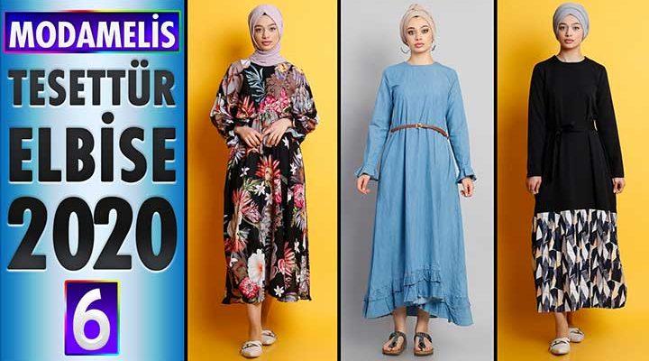 ModaMelis Elbise Modelleri 2020 [ 6 ] | Yeni Sezon Trend Tesettür Elbise Modelleri