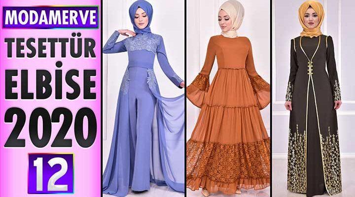 Modamerve Elbise Modelleri 2020 [ 12 ]   ModaMerve Yeni Sezon Tesettür Elbise Modelleri