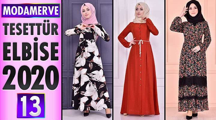 Modamerve Elbise Modelleri 2020 [ 13 ] | ModaMerve Yeni Sezon Tesettür Elbise Modelleri