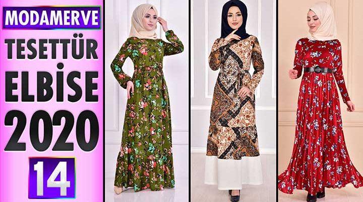 Modamerve Elbise Modelleri 2020 [ 14 ]   ModaMerve Yeni Sezon Tesettür Elbise Modelleri