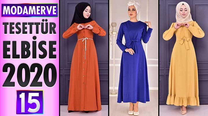 Modamerve Elbise Modelleri 2020 [ 15 ]   ModaMerve Yeni Sezon Tesettür Elbise Modelleri