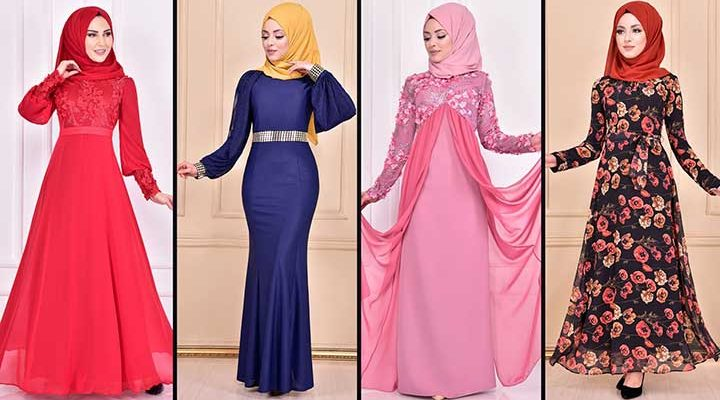 2020 ModaMerve Şifon Tesettür Elbise Modelleri 1 | Chiffon Dresses - Chiffon Kleid