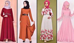2020 ModaMerve Şifon Tesettür Elbise Modelleri 2   Chiffon Dresses - Chiffon Kleid