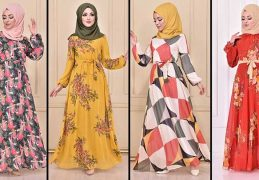 2020 ModaMerve Şifon Tesettür Elbise Modelleri 3 | Chiffon Dresses - Chiffon Kleid