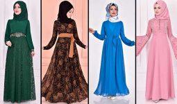 2020 ModaMerve Şifon Tesettür Elbise Modelleri 4   Chiffon Dresses - Chiffon Kleid