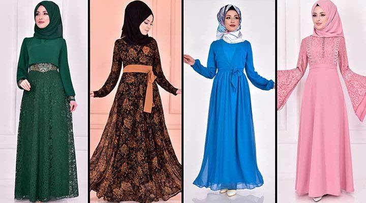 2020 ModaMerve Şifon Tesettür Elbise Modelleri 4 | Chiffon Dresses - Chiffon Kleid