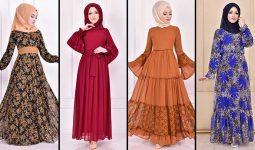 2020 ModaMerve Şifon Tesettür Elbise Modelleri 5   Chiffon Dresses - Chiffon Kleid