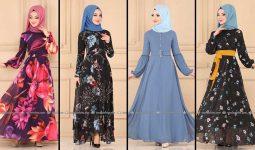 2020 Modaselvim Şifon Tesettür Elbise Modelleri 1   Moda Selvim Şifon Elbise Modelleri - Kleid