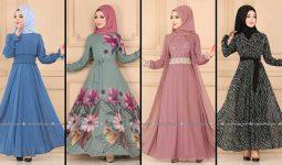 2020 Modaselvim Şifon Tesettür Elbise Modelleri 2   Moda Selvim Şifon Elbise Modelleri - Kleid