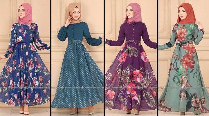 2020 Modaselvim Şifon Tesettür Elbise Modelleri 3   Moda Selvim Şifon Elbise Modelleri - Kleid
