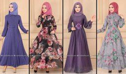2020 Modaselvim Şifon Tesettür Elbise Modelleri 4   Moda Selvim Şifon Elbise Modelleri - Kleid