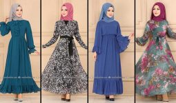 2020 Modaselvim Şifon Tesettür Elbise Modelleri 5   Moda Selvim Şifon Elbise Modelleri - Kleid