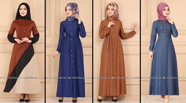 Modaselvim Büyük Beden Elbise Modelleri 8 [ 2020 Yaz ]   Tesettür Elbise - Plus Size Dresses