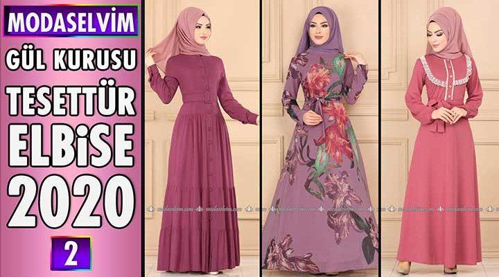 Modaselvim Gül Kurusu Elbise Modelleri 2020 [ 2 ]   Moda Selvim Elbise Modelleri