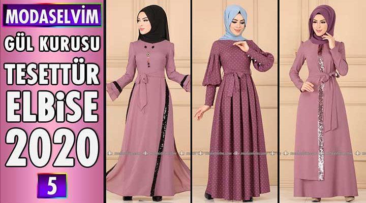 Modaselvim Gül Kurusu Elbise Modelleri 2020 [ 5 ]   Moda Selvim Elbise Modelleri