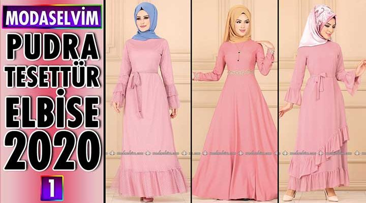 Modaselvim Pudra Elbise Modelleri 2020 [ 1 ] | Powder Color Dress