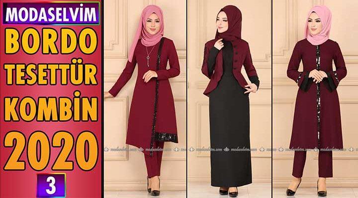 Bordo Modaselvim Tesettür Kombinleri 2020 [ 3 ] | Hijab Fashion Combinations