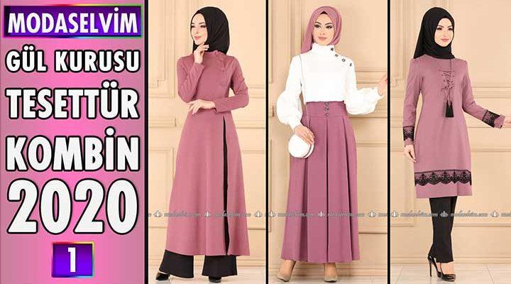 Gül Kurusu Modaselvim Tesettür Kombinleri 2020 [ 1 ] | Hijab Fashion Combinations
