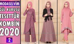 Gül Kurusu Modaselvim Tesettür Kombinleri 2020 [ 2 ] | Hijab Fashion Combinations