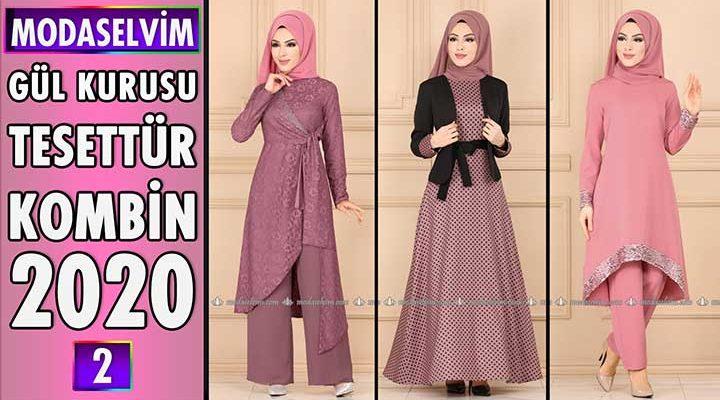 Gül Kurusu Modaselvim Tesettür Kombinleri 2020 [ 2 ]   Hijab Fashion Combinations