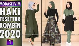 Haki Modaselvim Tesettür Kombinleri 2020 [ 1 ] | Hijab Fashion Combinations