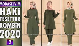 Haki Modaselvim Tesettür Kombinleri 2020 [ 2 ] | Hijab Fashion Combinations