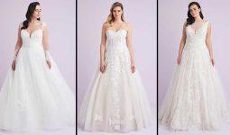 Oleg Cassini 2021 Büyük Beden Gelinlik | 2021 Most Fashionable Plus Size Wedding Dress